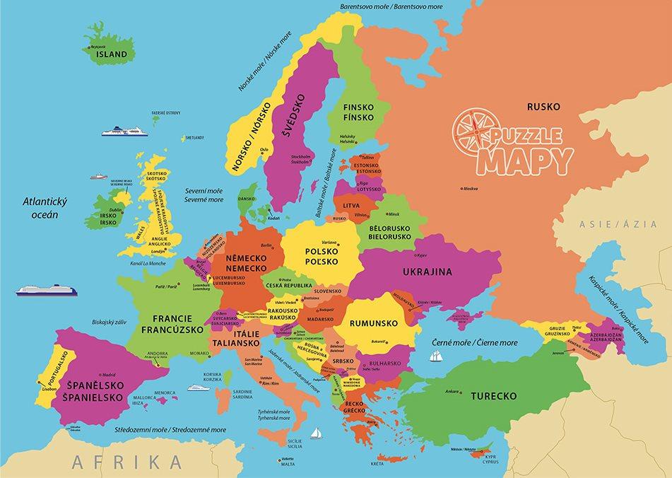 Mapy Evropa Dinotoys Svet Deskovych Her