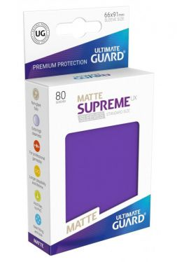 Supreme UX Sleeves Standard Size Matte Purple (80)