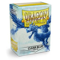 Dragon Shield standardní obaly: Matte Clear Blue (100 ks)