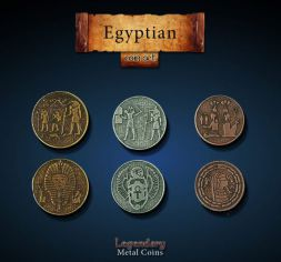 Egyptian Metal Coin Set
