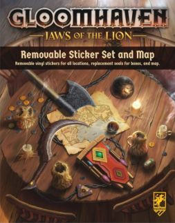 Gloomhaven: Jaws of the Lion - Removable Sticker Sheet and Map