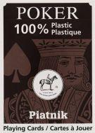 100% Plastic Poker single (plastové hnědé)